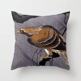 Eagle Traditional Japanese Wildlife Throw Pillow