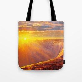 Sunlight waterfall Tote Bag