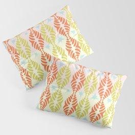 Leaf Motif Collection: Orange & Lemons with Blue Splat Pillow Sham