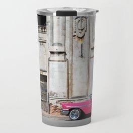 Classic Car on the City Street Travel Mug