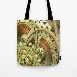 Industrial Steam Punk Cogwheels Tote Bag
