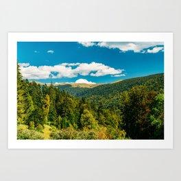 Carpathian Mountains Landscape, Summer Landscape, Transylvania Mountains, Forests Of Romania, Travel Art Print