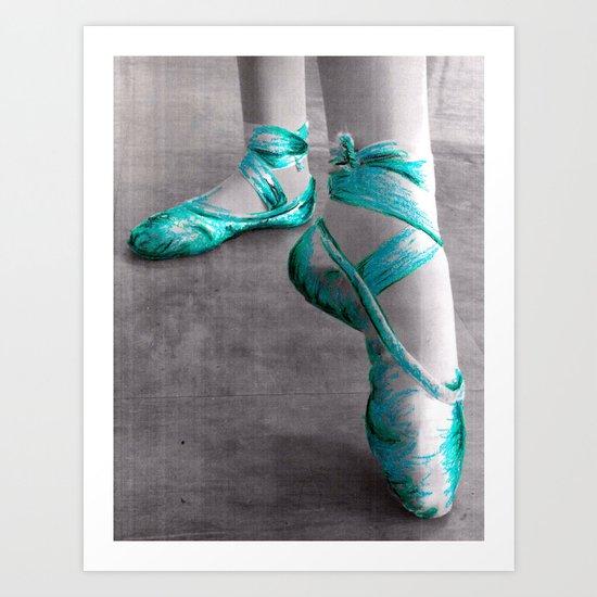 Ballet Shoe Blue Art Print