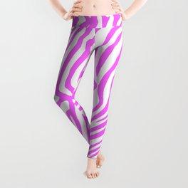 Pink neon color zebra pattern Leggings
