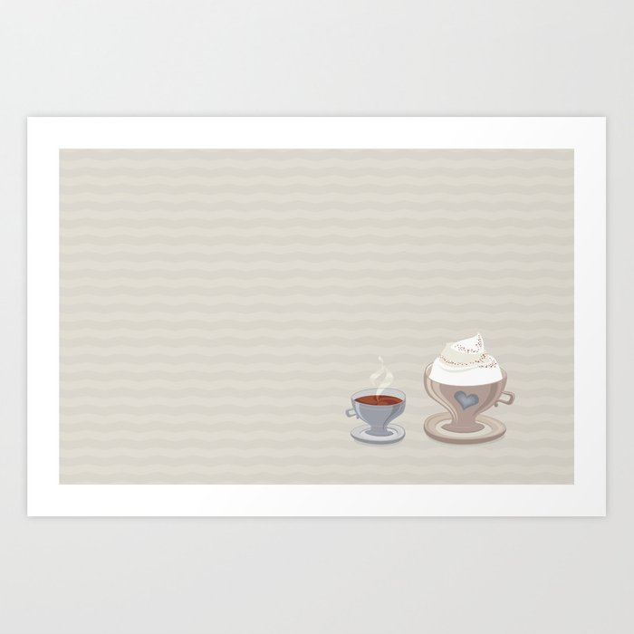 Coffee for Two Art Print