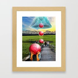 Interspatial Field Framed Art Print