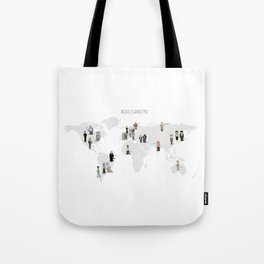 Architects world map Tote Bag