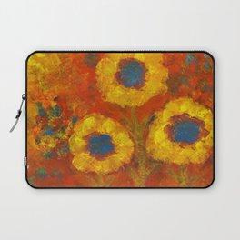 Sunflowers with a golden sun Laptop Sleeve