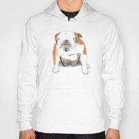 bulldog Hoodies featuring Bulldog by jo clark
