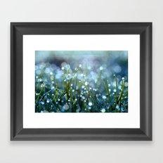 Fairy Drops Aqua Blue Framed Art Print