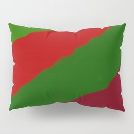 Red and Green Christmas Gift Pillow Sham