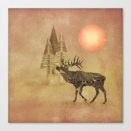 Deer in the autumn Canvas Print