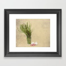 Wild Asparagus and Garlic  Framed Art Print