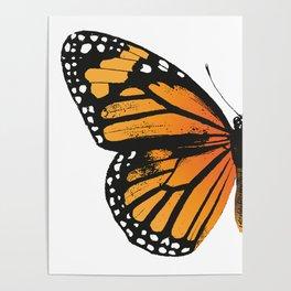 Monarch Butterfly | Left Butterfly Wing | Vintage Butterflies | Poster