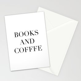 Books & Coffee Stationery Cards