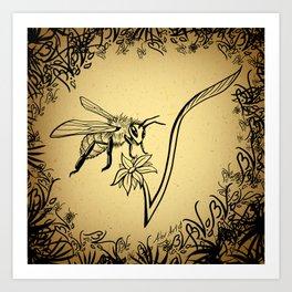 Bee Vegan Art Print