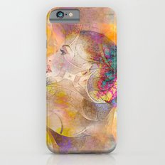 profile woman and flowers Slim Case iPhone 6s