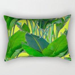 DECORATIVE TROPICAL GREEN FOLIAGE & CHARTREUSE ART Rectangular Pillow
