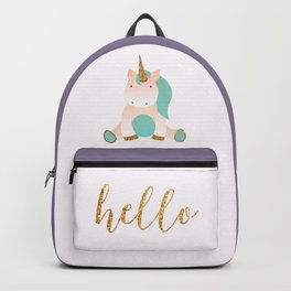 unicorn greetings Backpack