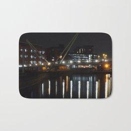 River Aire -  Leeds at night Bath Mat