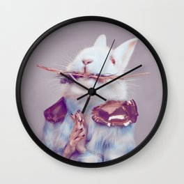 Undercover bunny Wall Clock