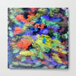 Colorful Chaos painting Metal Print