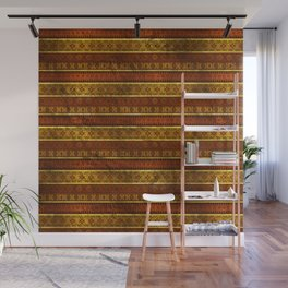 African Ethnic Tribal Pattern in golds and brown Wall Mural