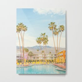Poolside in Palm Springs - Travel Photography Metal Print