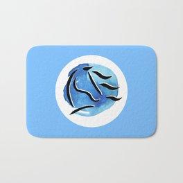 Spirit Horse {Blue Watercolor} Bath Mat