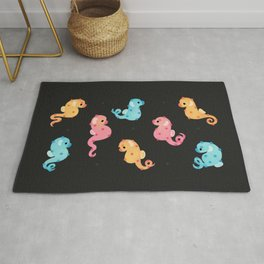 Pygmy seahorses - dark Rug