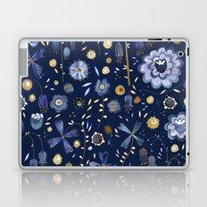 Indigo Flowers at Midnight Laptop & iPad Skin