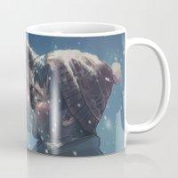 destiel Mugs featuring Winter Destiel by A Midget Banana