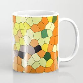 Mosaik orange yellow pattern Coffee Mug
