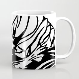 Black and White Mountain Watercolor Coffee Mug