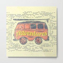 Adventures Van Metal Print
