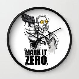 Mark it zero, the big lebowski Wall Clock