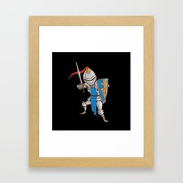 Knight Cartoon Framed Art Print