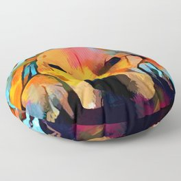 Golden Retriever 4 Floor Pillow