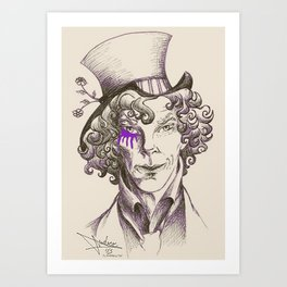 Mad Hatter (purple) Art Print