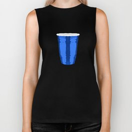 CLARITY CUP BLUE (BIG) Biker Tank
