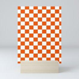 Neon Orange Checkered Phone Case Mini Art Print