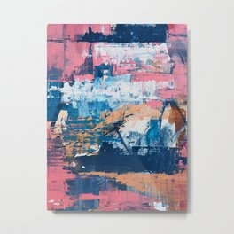 Rock and Roll Soul: a vibrant abstract contemporary painting by Alyssa Hamilton Art in pinks and blues Metal Print