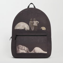 Moon on a meadow vintage 1920s Backpack