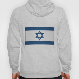 Flag of Israel. Vector illustration of a stylized flag. The slit in the paper with shadows Hoody