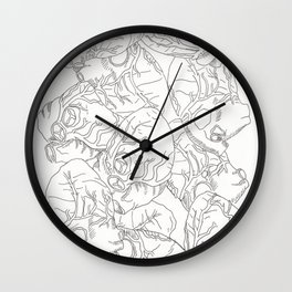 Anatomy of Hearts Wall Clock