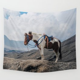The Horse and the Volcano Wall Tapestry