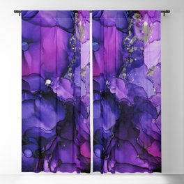 Violet Storm - Abstract Ink Blackout Curtain