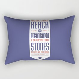 Lab No. 4 - Never reach destination winston churchill's Quotes Poster Rectangular Pillow