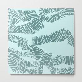 Shark Pattern  Metal Print