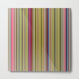 Colorful Stripes Barcode 1 Metal Print